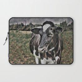 Melancholic Black White Dutch Cow Laptop Sleeve