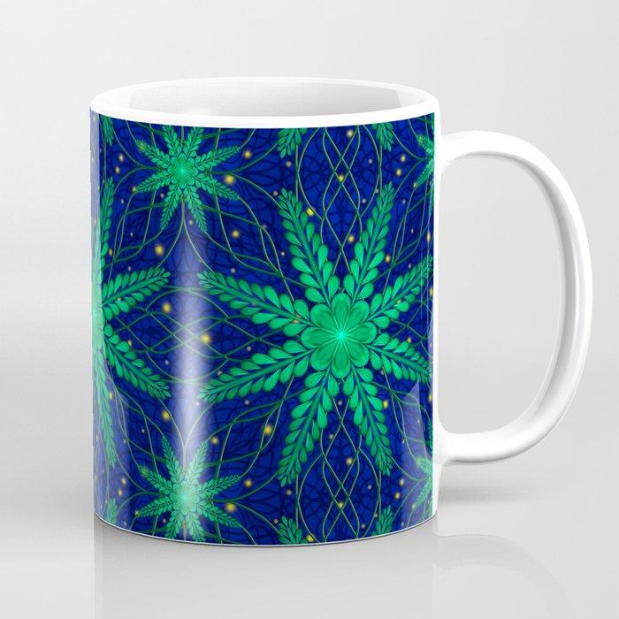 Web of Leaves and Light Coffee Mug