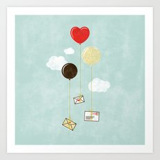 Love Letters by Air Mail Art Print