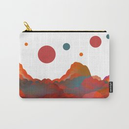 """""""Coral Sci-Fi Mountains"""" Carry-All Pouch"""