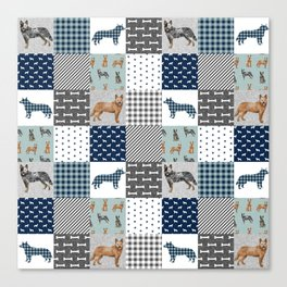 Australian Cattle Dog cheater quilt pattern dog lovers by pet friendly Canvas Print