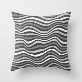 GrayWaving Throw Pillow