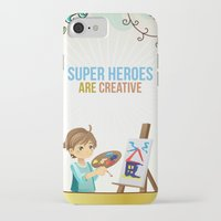 super heroes iPhone & iPod Cases featuring Super Heroes Are Creative by youngmindz