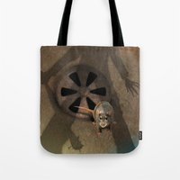 fear Tote Bags featuring fear by ErsanYagiz