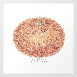 Poofy Marcel Cozyreff Art Print