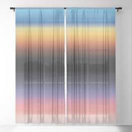 The Skys Colour Sheer Curtain