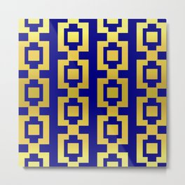 Gold and blue pattern Metal Print