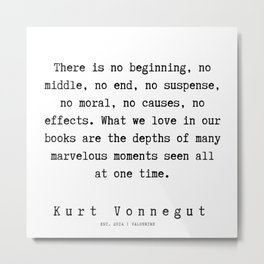 36 | Kurt Vonnegut Quotes | 191006 Metal Print