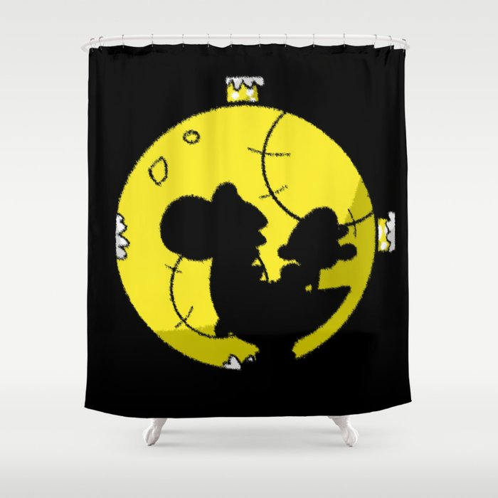 Yoshi And Baby Mario Super Bros Shower Curtain