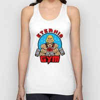 gym Tank Tops featuring Eternia Gym by Buby87