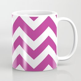 Fandango - violet color - Zigzag Chevron Pattern Coffee Mug