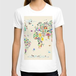 Animal Map of the World T-shirt