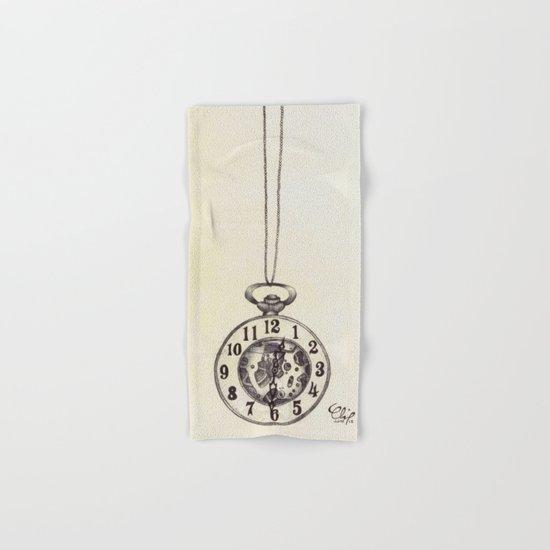 Ballpoint Pen, Half Hunter Pocket Watch Hand & Bath Towel