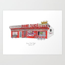 The Austin Collection: Home Slice Pizza Art Print