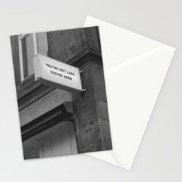 You're Not Lost You're Here Photography Stationery Cards