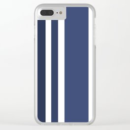 Striped Ombre in Blue Clear iPhone Case