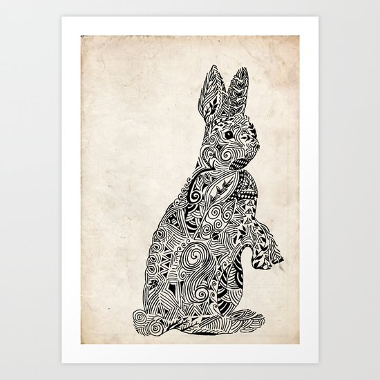 Rabbit2 Art Print