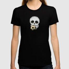 Cute Baby Owl With Football Soccer Ball T-shirt