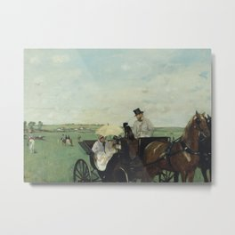 At the Races in the Countryside Metal Print