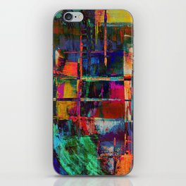 Canvas Abstract Deux iPhone Skin