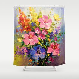 A bouquet of meadow flowers Shower Curtain