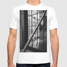 Los Angeles Arts District II Mens Fitted Tee MEDIUM White