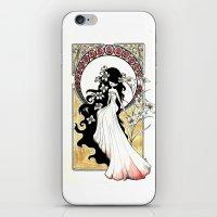 art nouveau iPhone & iPod Skins featuring Art Nouveau by Alexandra Banti