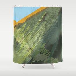 steel mountains 2 Shower Curtain