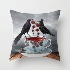 TEA AND A LIL' LOVE Throw Pillow
