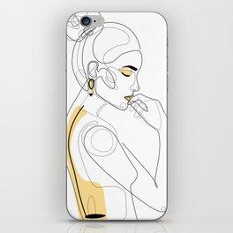 Lemon Girl iPhone Skin