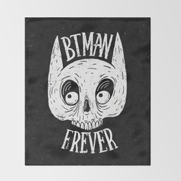 Bat skull Throw Blanket