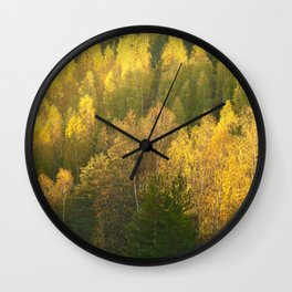 Forest In Sunset Tones  Wall Clock