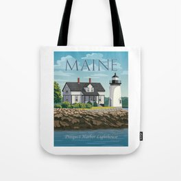 Prospect Harbor Lighthouse Tote Bag