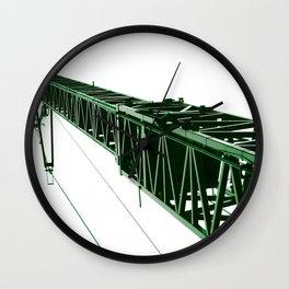 crane green operator Wall Clock
