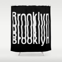 brooklyn Shower Curtains featuring Brooklyn by Hoods
