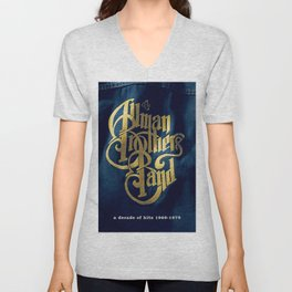 A Decade of Hits 1969 - 1979 by The Allman Brothers Band - Vectorized Unisex V-Neck