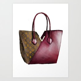 LV bag Art Print