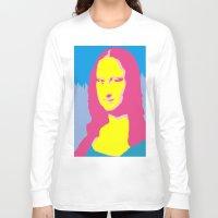 mona lisa Long Sleeve T-shirts featuring Mona Lisa by Becky Rosen