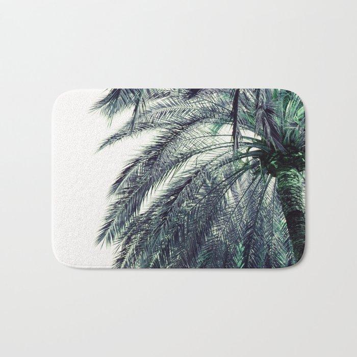 Teal Palm Tree Bath Mat