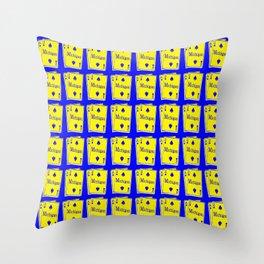 A-DUECE MICHIGAN PLAYING CARD Throw Pillow