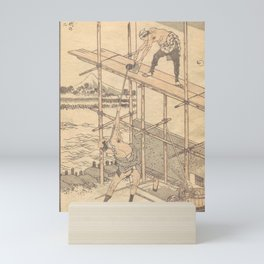 Katsushika Hokusai - 100 Views of Mount Fuji: Fuji with a Scaffold (1835) Mini Art Print