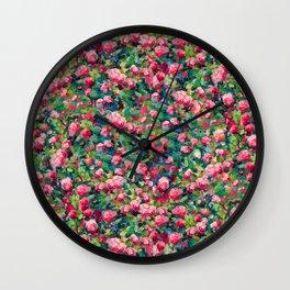 Rose Romance Pattern Wall Clock