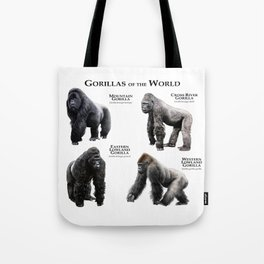 Gorillas of the World Tote Bag