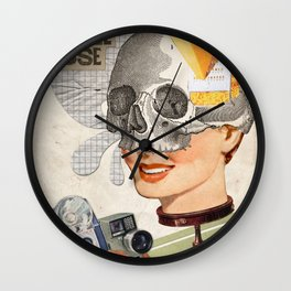 Artificial smiles Wall Clock
