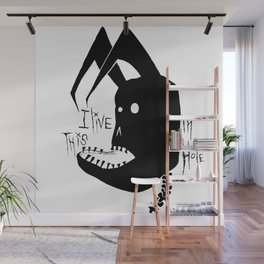 I live in this Hole Wall Mural