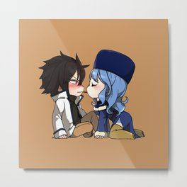 Chibi Gray and Juvia Metal Print