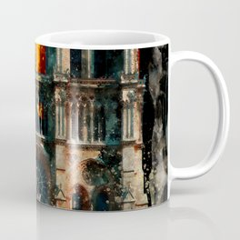 Notre Dame Cathedral on fire Coffee Mug