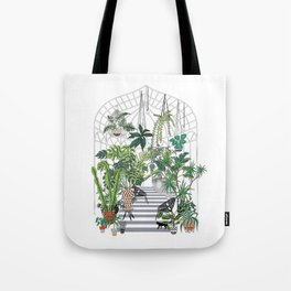 greenhouse illustration Tote Bag