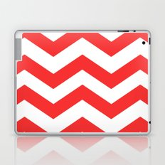 Red Chevron Lines Laptop & iPad Skin