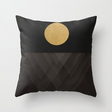 Moon Reflection on Quiet Ocean Throw Pillow